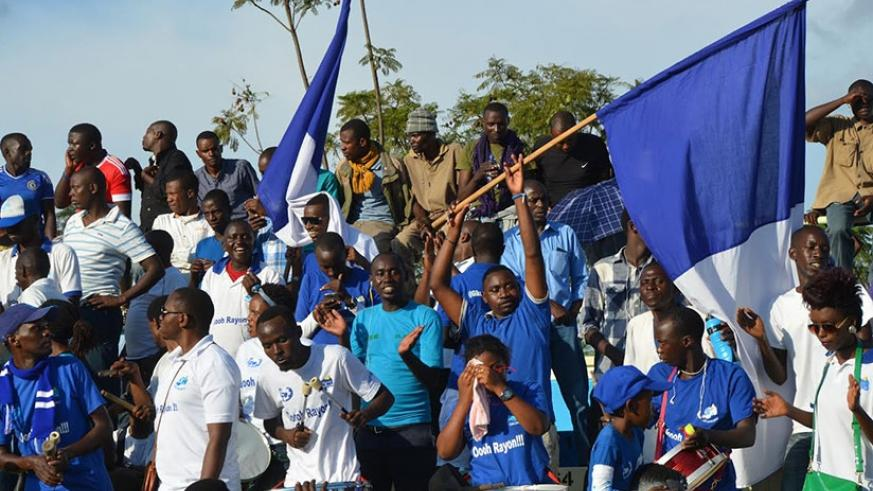 Rayon Sports fans have vowed to play the role of the 12th man when they face Rivers United tomorrow. (File)