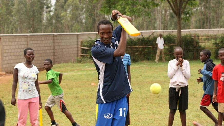 Audifax Byiringiro was introduced to cricket in 2007 aged 14, and had his first CWB experience aged 15, a session at the Kicukiro Oval. Net photo