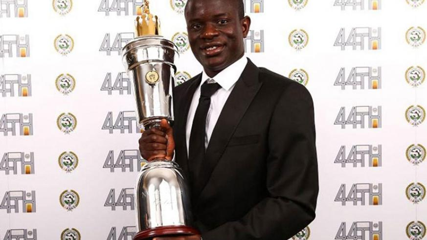 N'Golo Kante has been named PFA Player of the Year