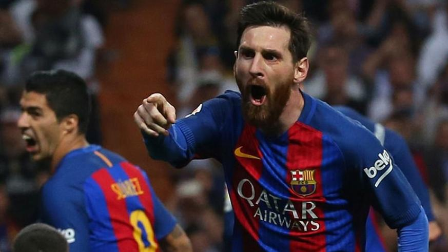 Lionel Messi scored his 500th Barcelona goal with the last kick of the game to snatch a stunning 3-2 win at Real Madrid and put the two teams level on points at the top of La Liga ....