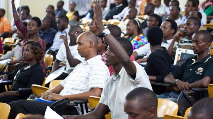 University students attending a lecture. / File