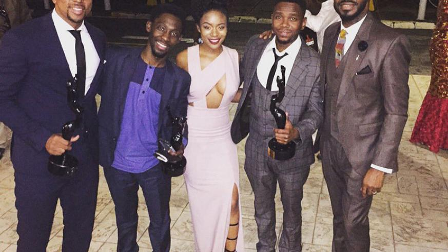Winners of the 2016 Africa Movie Academy Awards pose with their prizes. / Internet photo