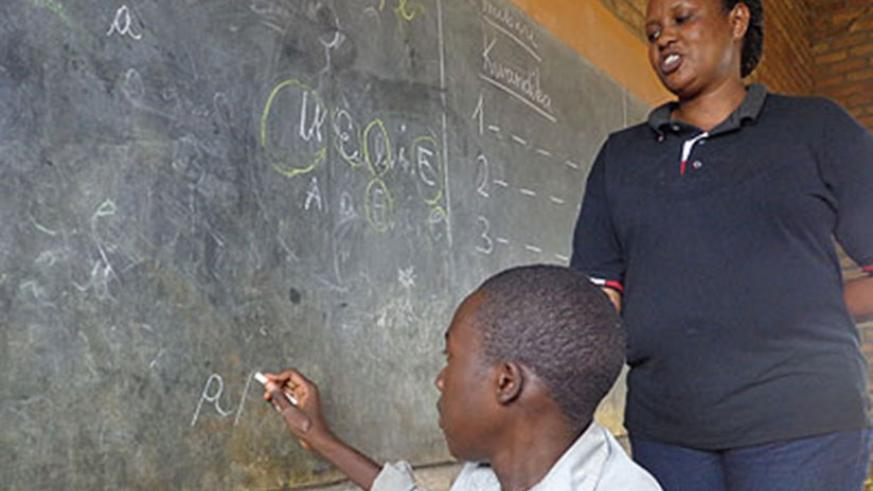 Teachers should be trained to cater for students with disabilities and special needs.