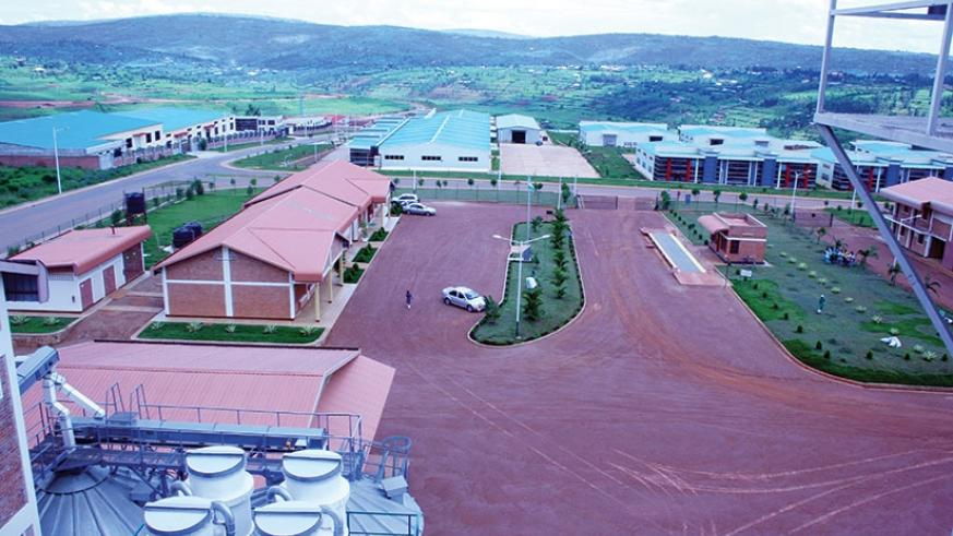 An aerial view of part of the Special Economic Zone in Gasabo district. (File)