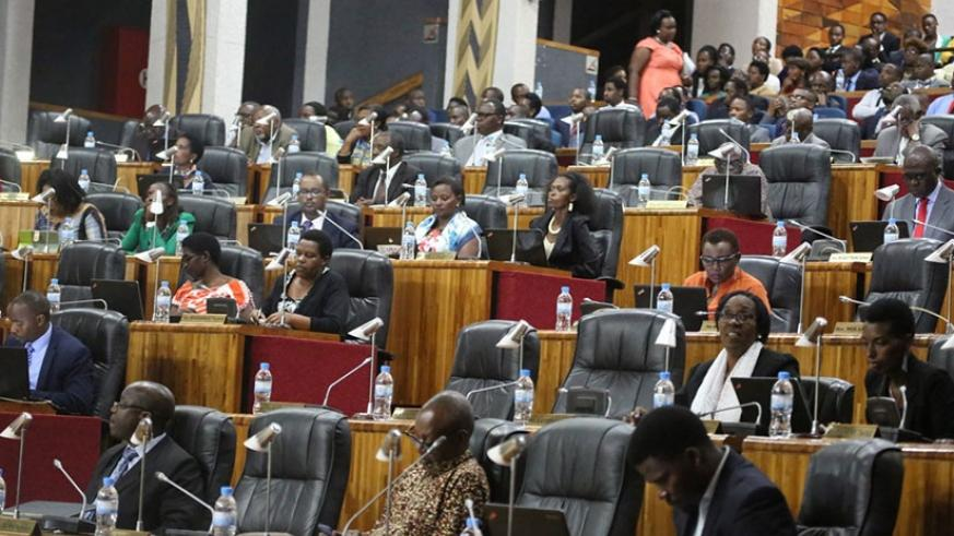 The Auditor General, Obadia Biraro today presented the 2015/2016 report to both houses of parliament. (Courtesy)