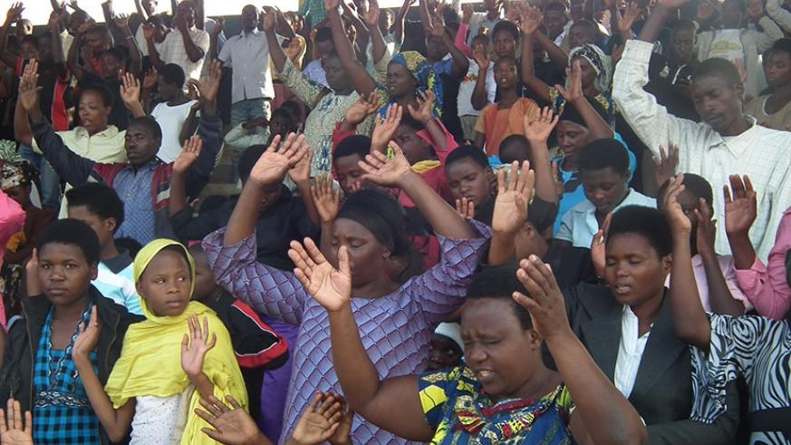 Christians during a prayer session. (File)