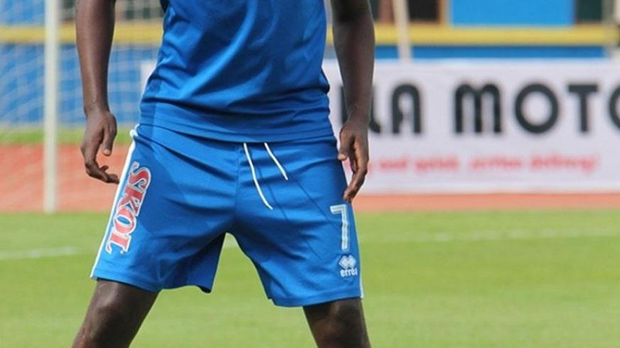 Striker Frank Lomami scored in the 14th and 72nd minutes as Rayon Sports routed Gicumbi FC 6-1 on Tuesday to go ten points clear at the top of the league table. (File)