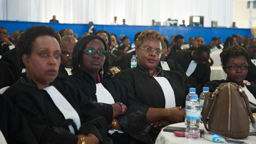 Lawyers follow proceedings during a past annual meeting and general assembly. / Nadege Imbabazi