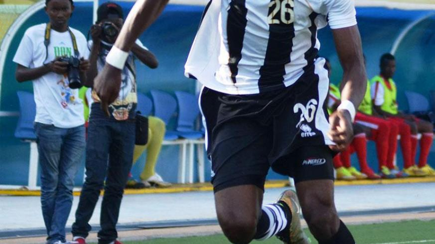 Striker Issa Bigirimana netted the second goal for APR in the 34th minute to take his tally to 6 goals this season. / File