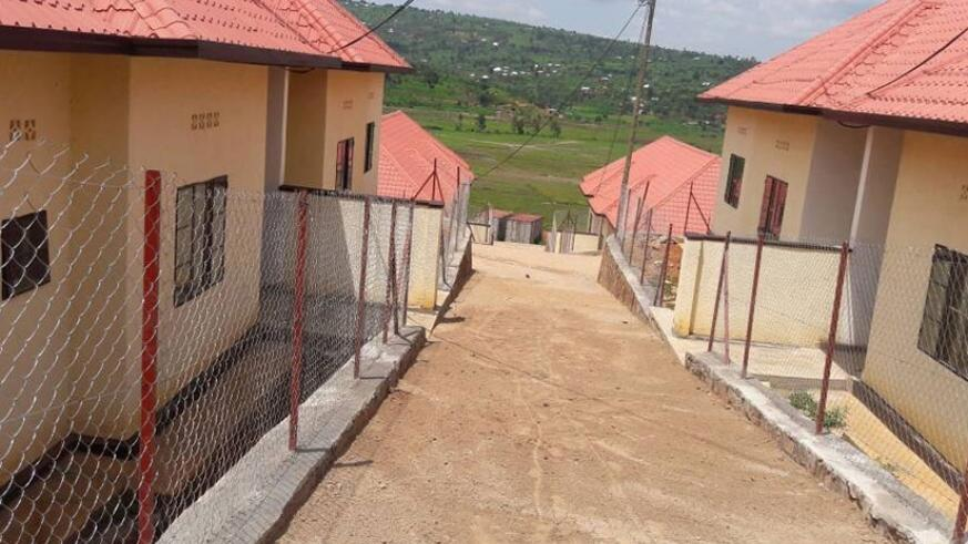 Some of the housing units constructed by the veterans in Kabuga (Donah Mbabazi)