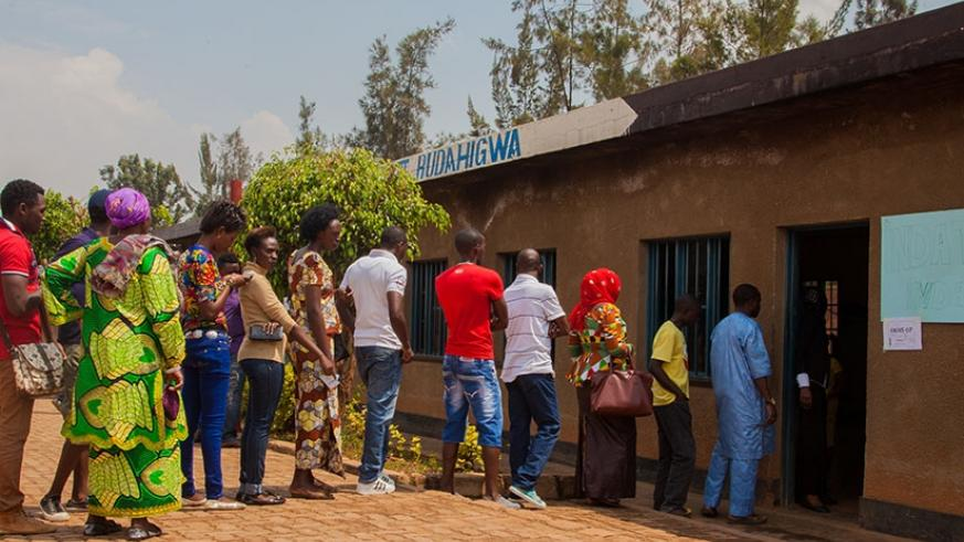 Voters line up at a polling station to vote in the 2015 referendum. (File)