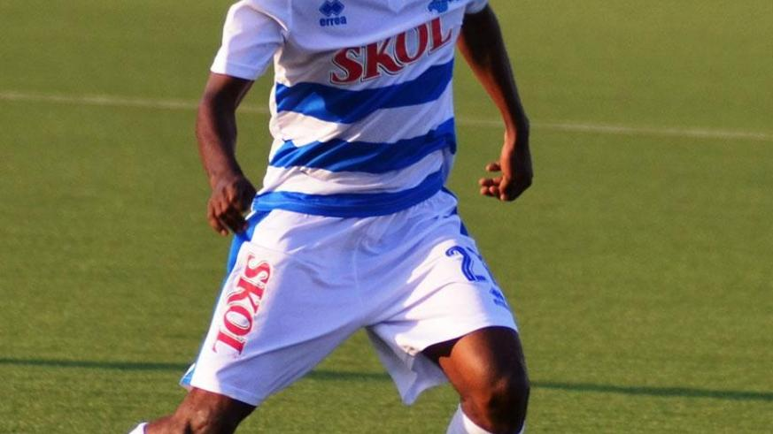 Midfielder Nshuti equalised for Rayon Sports  in their 2-1 win over Kirehe FC on Sunday, which took the Blues to within three points of the league title. (Sam Ngendahimana)