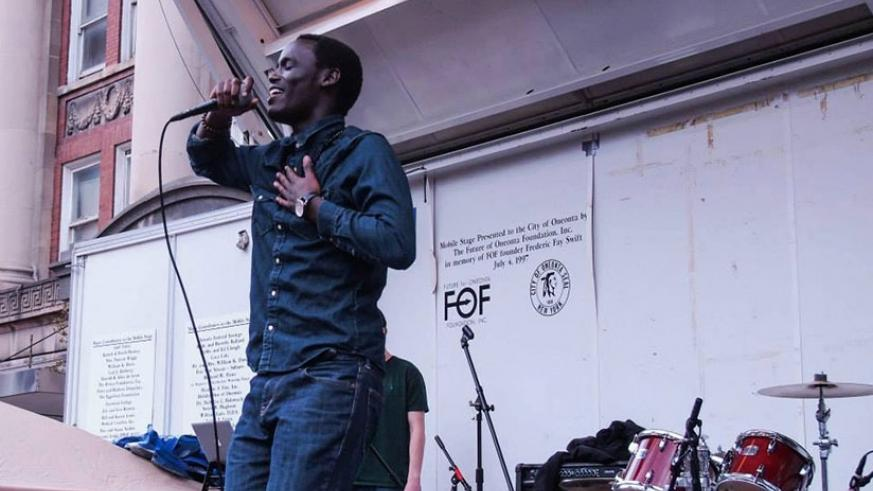 Rapper Darkecy at a past performance. (Net)