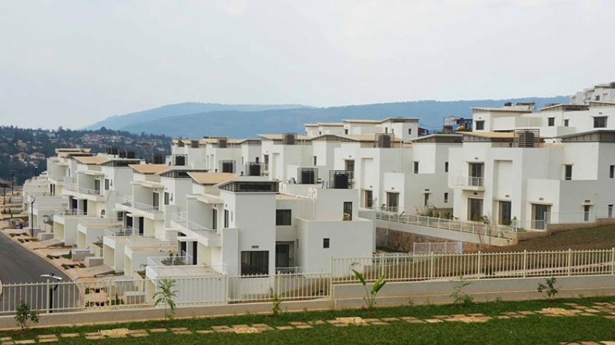 A view of Vision City estate under construction in Gacuriro. (Sam Ngendahimana)