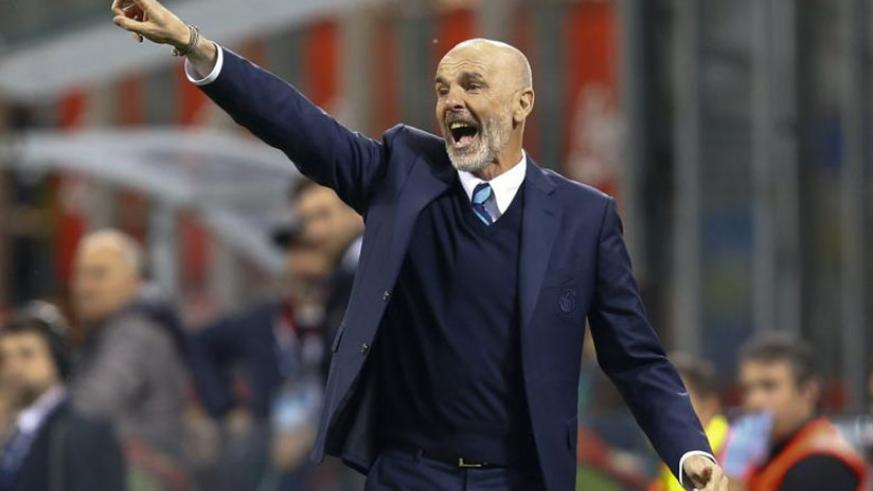 Inter Milan's coach Stefano Pioli during the match against Napoli. Net photo