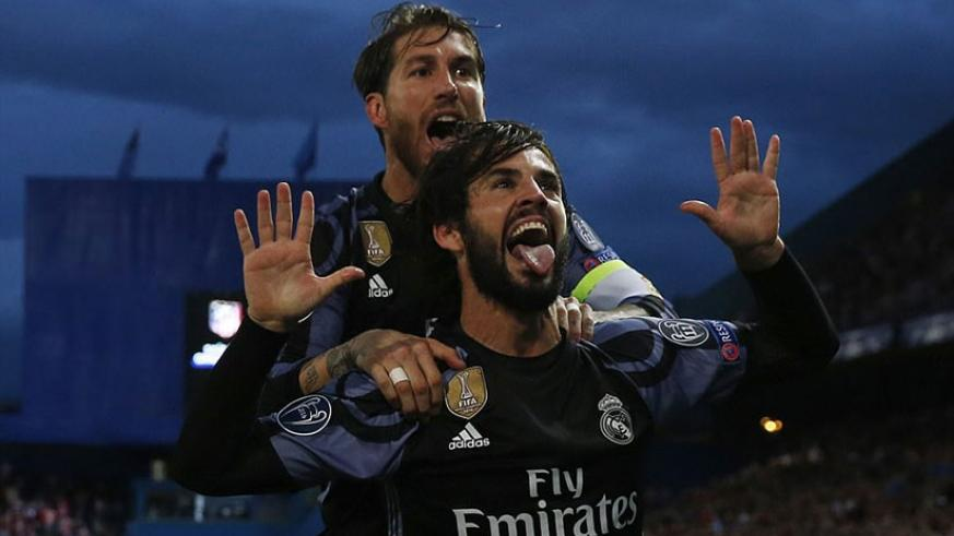Real Madrid reached the Champions League final after Isco's away goal proved crucial despite the defeat on the night. Net photo