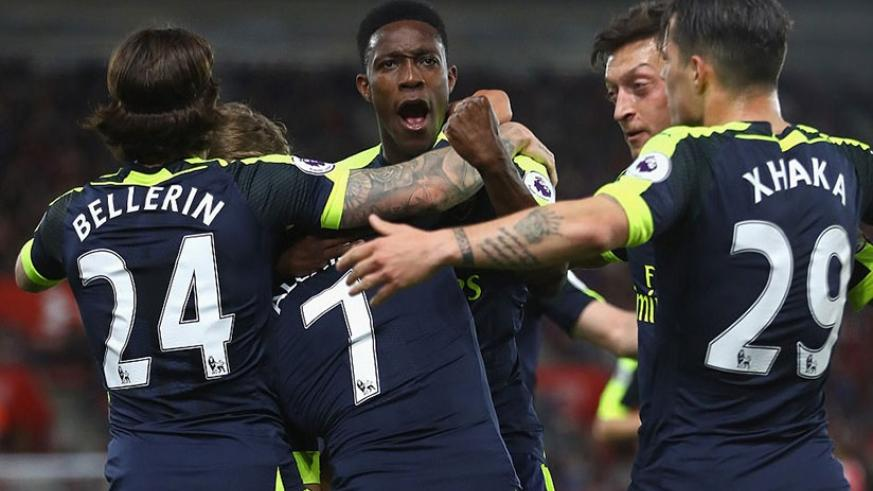 The victory moves Arsene Wenger's men to within three points of fourth-placed Manchester City with three left to play. Net photo