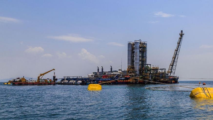 The KivuWatt Methane Gas Plant on Lake Kivu. File