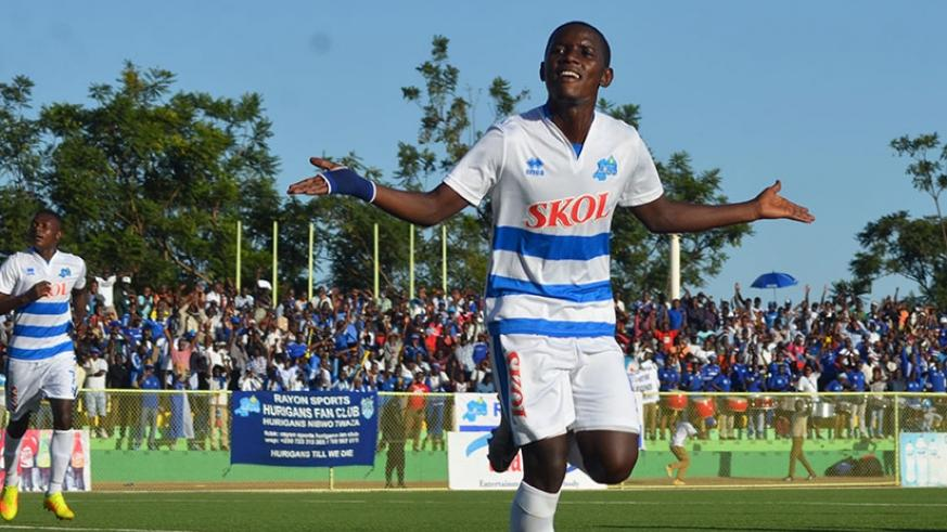 Rayon Sport's top scorer striker Shassir Nahimana (12 goals) will be looking to guide the Blues to their eighth league title today. (Sam Ngendahimana)