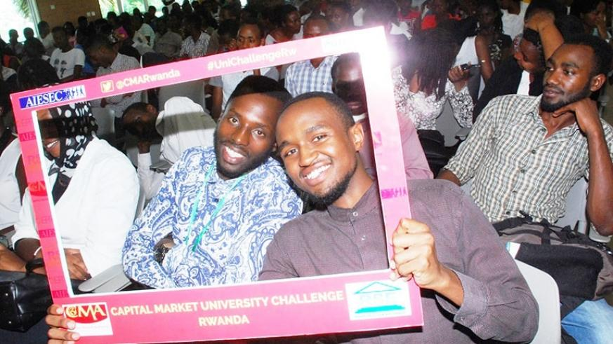 Some of the students that attended the launch of the challenge. (Courtesy photos)