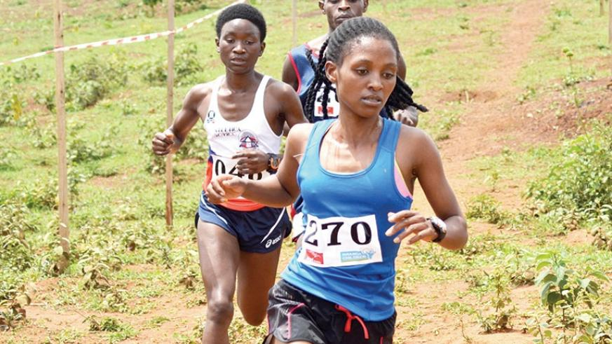 Salome Nyirarukundo (at the front) claimed silver medal in the women half marathon last year but believes this is her year to win gold. S. Ngendahimana
