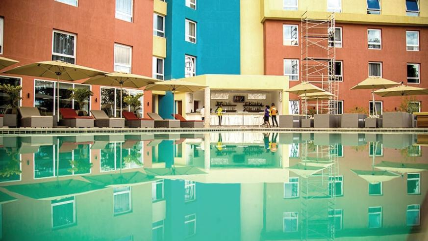 The pool side view of Park Inn by Radisson located in Kiyovu. File.