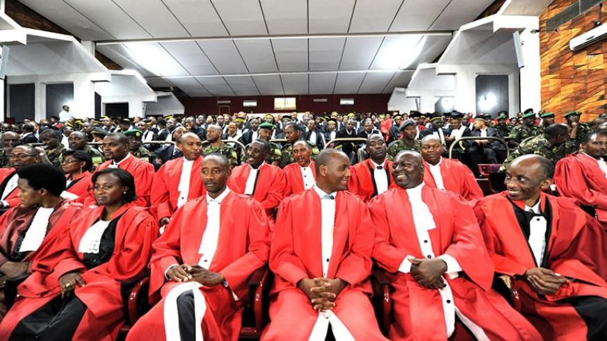 Judges in parliament during last year's opening of the judicial year. (File)