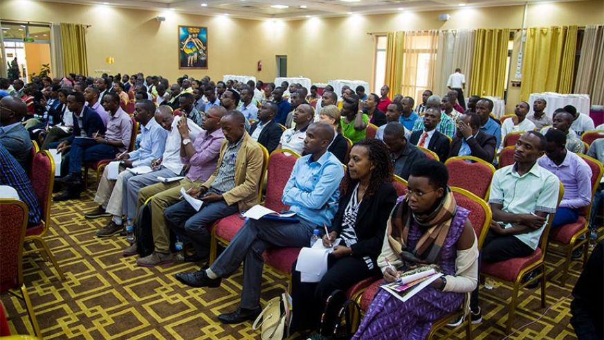 Taxpayers during a past sensitisation training organised by Rwanda Revenue Authority. (File)