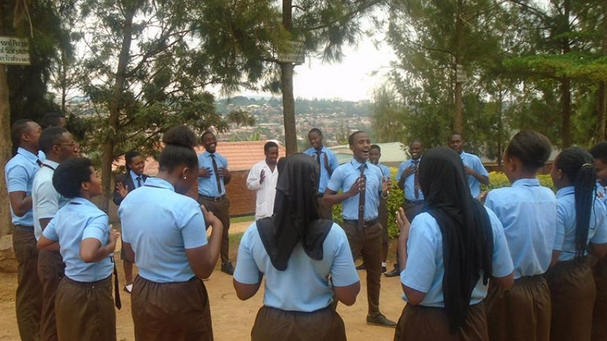 Students at Kigali Leading Technical School during a club activity. Taking part in such extracurricular activities builds students' confidence and gives them skills to excel after school. (Photos by Lydia Atieno)