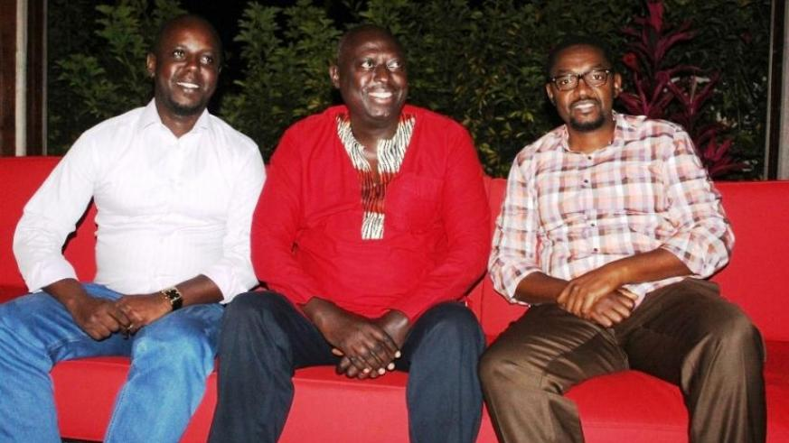 L-R: Fidel Kanamugire, John Uwintwali and Raoul Gisanura lead the coalition. The group says they want to bring about changes in Rwandan football. (Peter Kamasa)