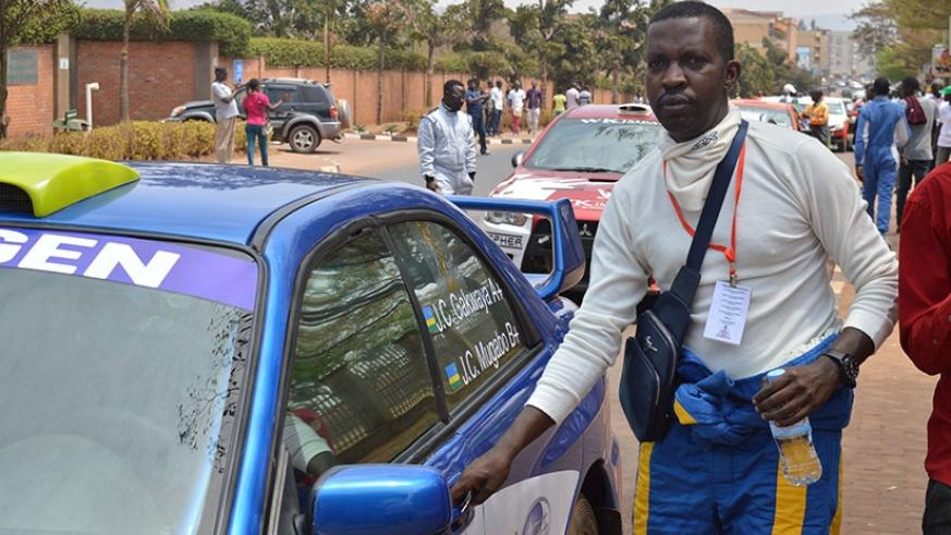 Gakwaya finished fourth and was the only Rwandan to finish in top ten in the 2016 Rwanda Mt. Gorilla Rally. (File)