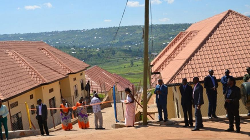 The four-in-one three bedroom houses cost Rwf18m each at the fully-serviced estate.  / Francis Byaruhanga.