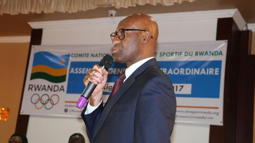 National Olympic and Sports Committee president,  Valens Munyabagisha says they are well aware of the issue of taxes on equipment received as donation. Courtesy