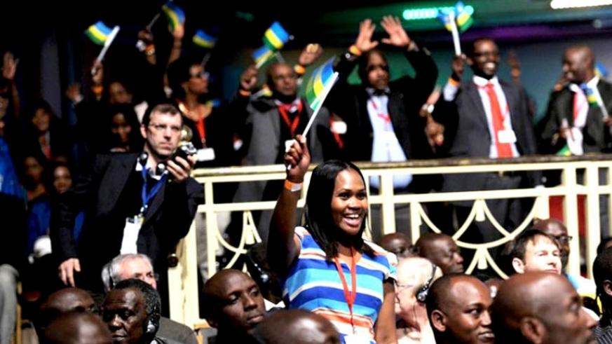 Participants cheers during a past Rwanda Day (File)
