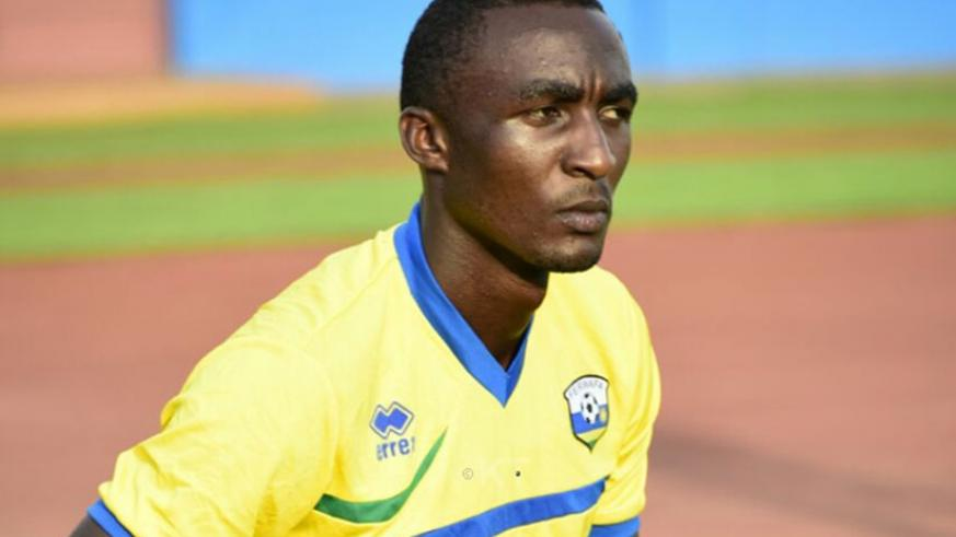 AS Vital Club striker Sugira has joined the Amavubi training camp for the final preparations ahead of the AFCON 2019 qualifier against Central African Republic. (File)