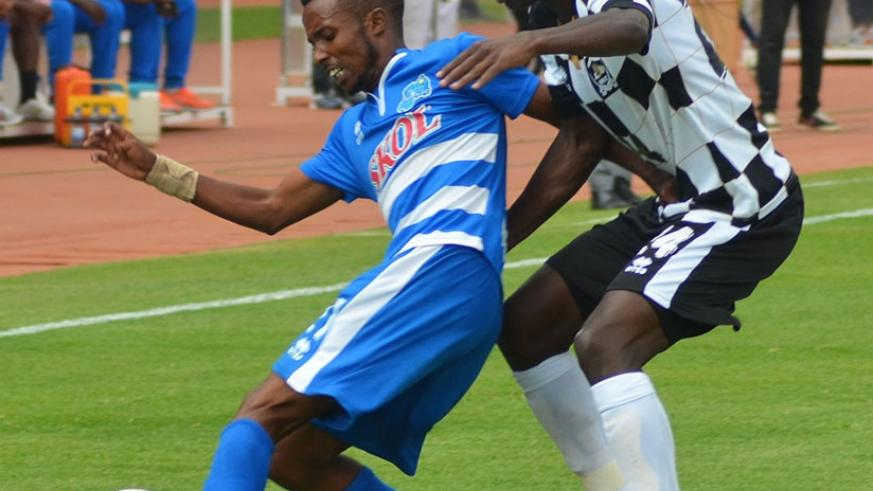 Nshuti (L) and Imanishimwe, once teammates at  Rayon Sports, are set to play together again next season at APR FC. (S. Ngendahimana)