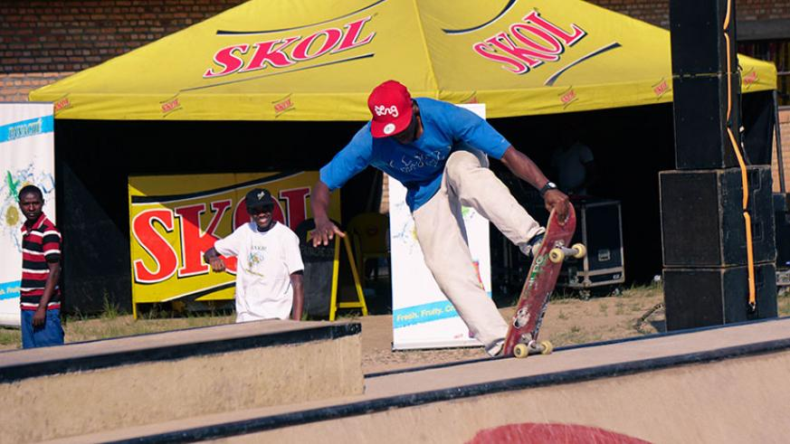 One of the skateboarding competitors,