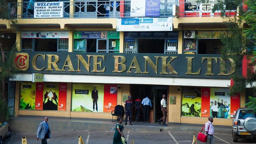A Crane Bank Rwanda branch in downtown Kigali. CBA completed 100 per cent acquisition of the Ugandan firm yesterday. File.