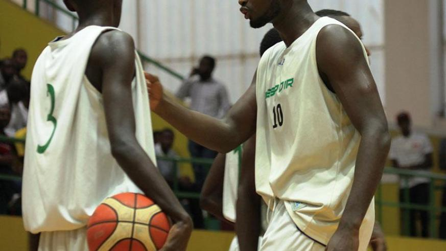 Espoir captain Olivier Shyaka and his teammates react to the loss against IPRC-Kigali in the final of the Heroes' Day tournament. / Sam Ngendahimana