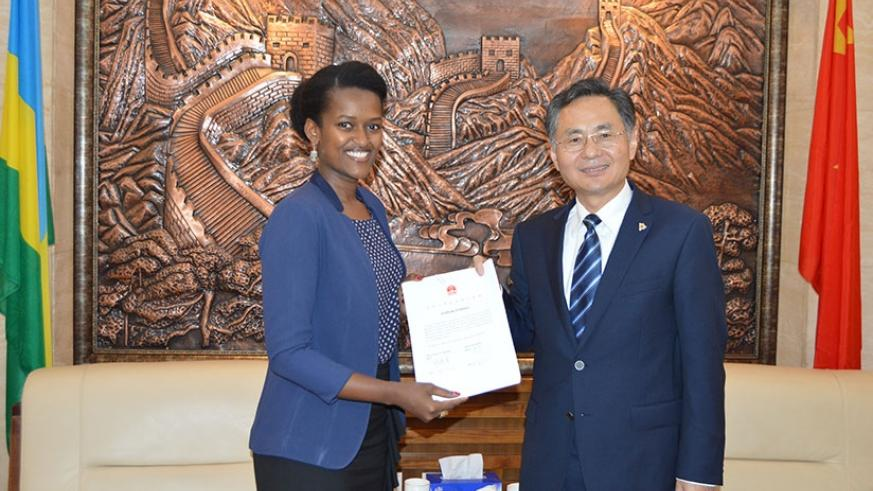 The Chinese Ambassador Henry H. Rao and Imbuto Foundation's Director General Sandrine Umutoni signed the Memorandum of Understanding to continue their partnership in the scholarship programme