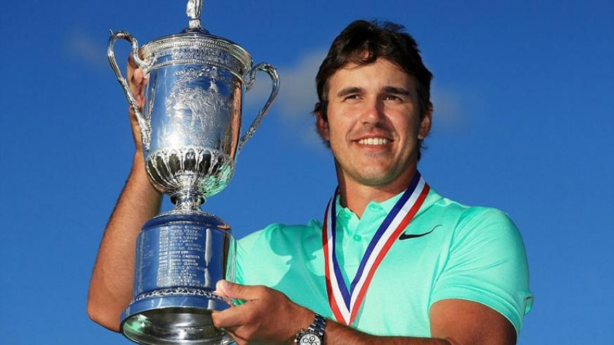 Brooks Koepka claimed his first major title with a four-shot victory at the US Open in Wisconsin on Sunday. Net photo