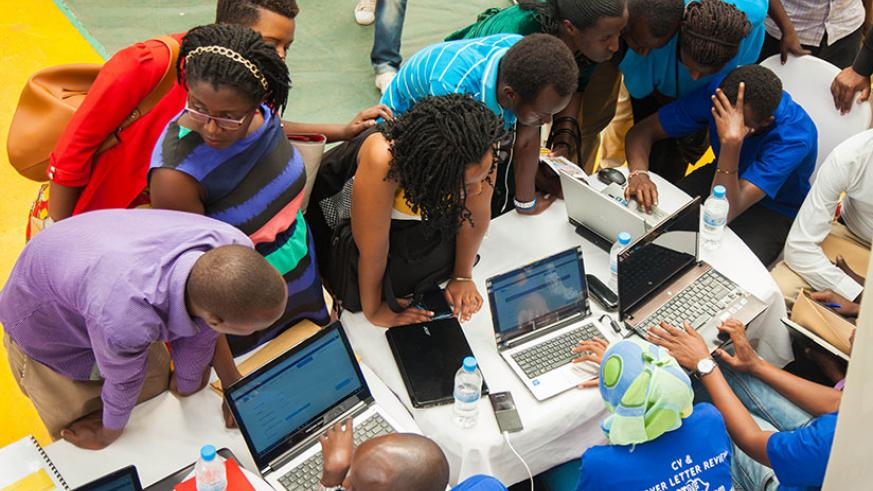 Job-seekers registered during a job fair organised by the Kigali Employment Service Centre recently. An initiative that seeks to improve skills graduates to make them more employab....