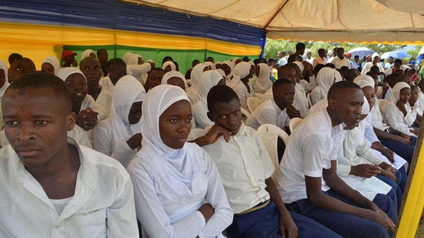 Students attend Day of the African Child celebrations last week. / Frederic Byumvuhore