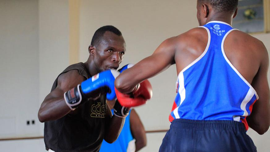 RABA had dropped boxer David Nsabimana (L) from the team on the last minute not knowing the team trip would be cancelled altogether.  / Sam Ngendahimana