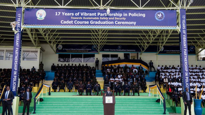 President Paul Kagame speaking on Police Day