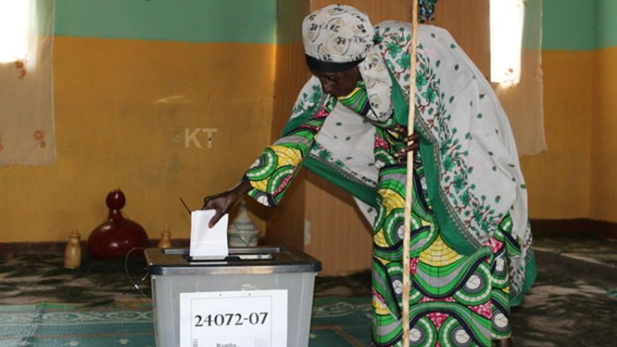 A senior citizen casts her vote during a past election. (File)
