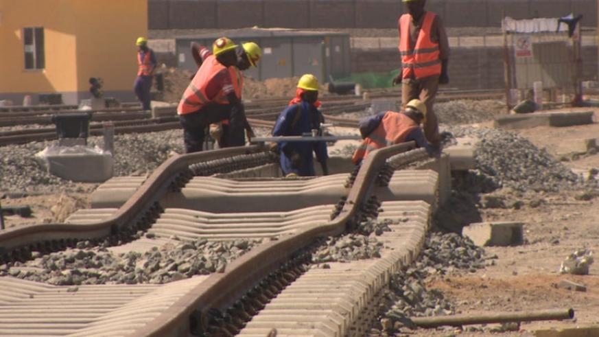 Standard Gauge Railway under construction in Kenya. There are plans to extend the railway line to Kigali. (Net)