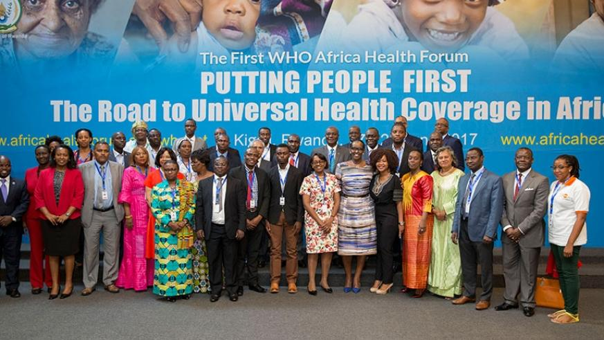 Mrs Kagame in a group photo with some of the participants at the forum yesterday. (Courtesy)