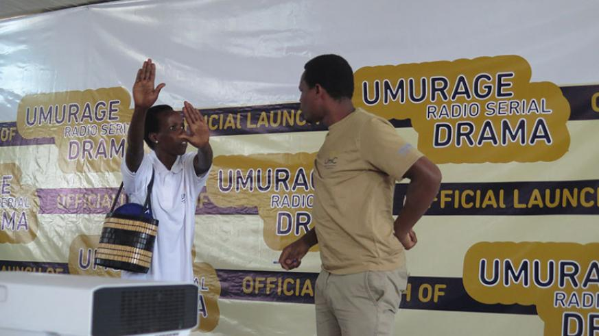 Actors who will feature in Umurage perform a live drama skit. / Photos: Eddie  Nsabimana