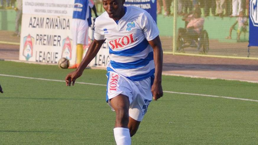 Savio Nshuti, captured here in action for Rayon Sports, will join AS Kigali at the end of the season. / Sam Ngendahimana